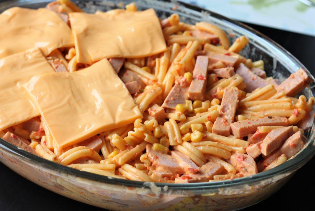 falukorv pasta gratäng
