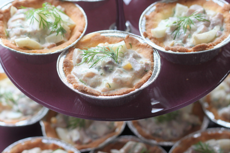 Minipajer med matjesill