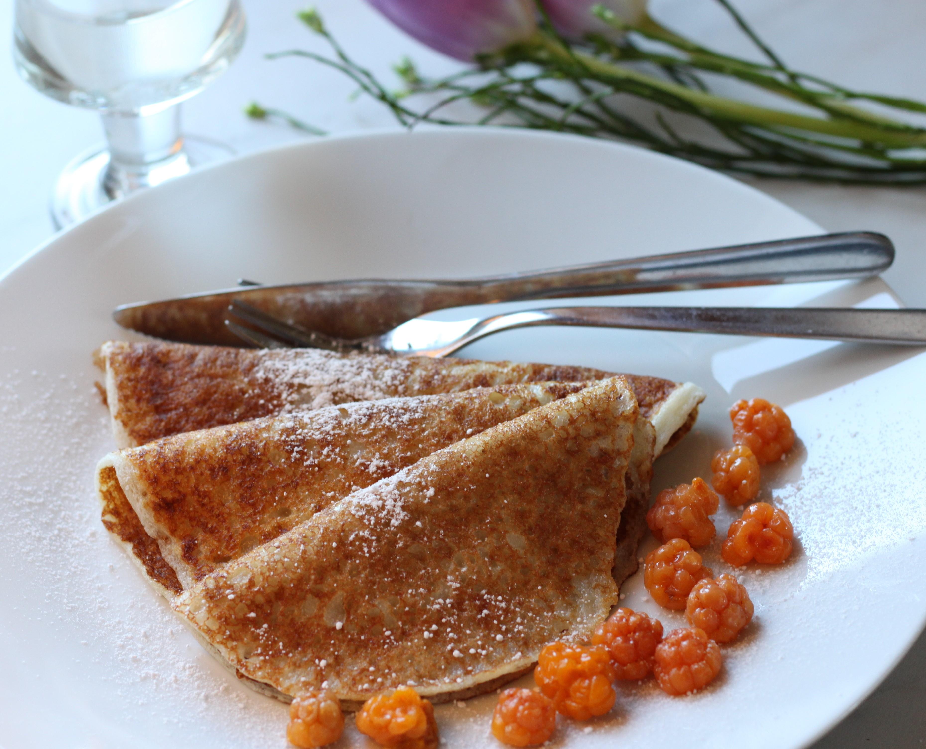 glutenfria pannkakor mjölmix