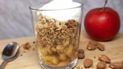 stekta äpplen i glas glutenfritt smul