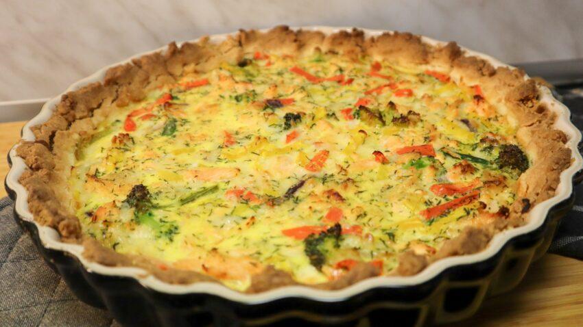 glutenfri lax och grönsakspaj