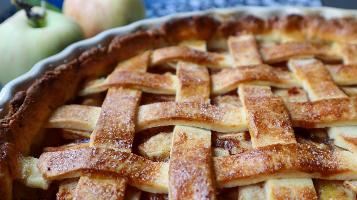 glutenfri amerikansk äppelpaj