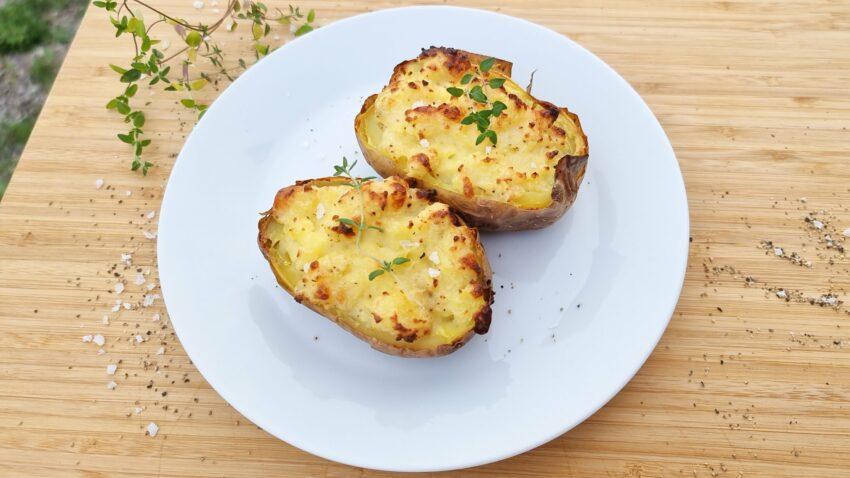 Dubbelbakad potatis
