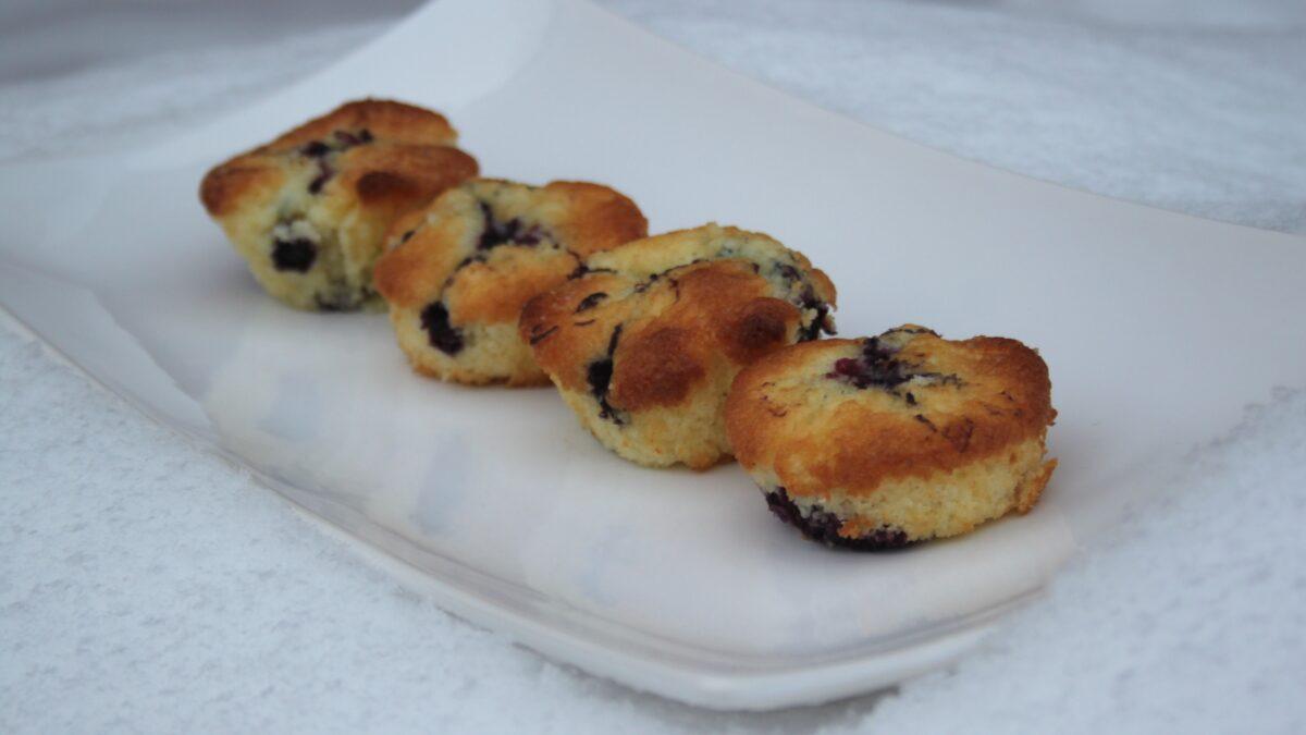 glutenfria svartvinbärsmuffins